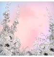Watercolor Pencil Ink Sketch Flowers vector image vector image
