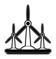 wind turbines energy vector image vector image