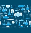 winter landscape seamless background in minimal vector image vector image