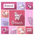 Womens day icons set vector image