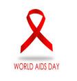 world hiv aids day ribbon vector image
