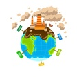 World planet pollution vector image vector image