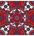 Indian boho floral seamless colored background vector image