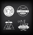 Barber shop labels icons vector image