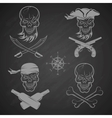 Emblems of skulls on the pirate theme vector image