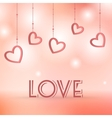 Love sign with hearts decorations vector image