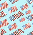 USA patriotic seamless pattern American flag vector image