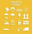 simple logistics icons set vector image