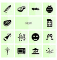 14 new icons vector image vector image