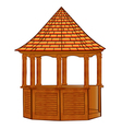 A wooden gazebo on white vector | Price: 1 Credit (USD $1)