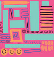 abstract hand drawn doodle on pink background vector image vector image
