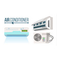 air conditioner set different types office vector image