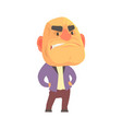 bald angry man with aggressive facial expressions vector image vector image