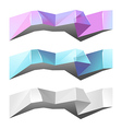 banners and ribbons set vector image vector image