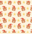 bashower card with little bears heads pattern vector image