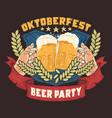 beer party oktoberfest artwork vector image vector image