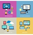 Business process concept flat vector image vector image