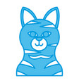 cat head cartoon vector image