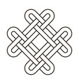 celtic knot geometric ancient cross tribal vector image