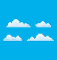 clouds pixel game graphics 8 bit sky smoke vector image