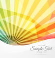 colorful abstract sunburst background vector image vector image