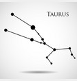 constellation taurus zodiac sign vector image