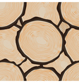 Cut log butt seamless pattern vector image