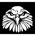 Eagle isolated on black background Flat vector image