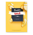 easter sale get extra fifty percent off easter vector image vector image