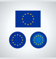 european union trio flags vector image