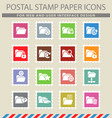 folder icon set vector image vector image