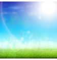 Green Meadow On a Sunny Day vector image vector image