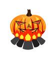 halloween pumpkin burn on bornfire vector image