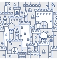 Hand drawn castle doodle tower pattern vector image vector image