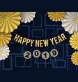 happy new year 2019 background design with circle vector image vector image
