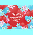 happy valentine day greeting banner with sign on vector image vector image