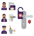 hotel workers personal professional service man vector image