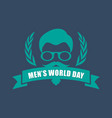 international men day or father day emblem with vector image vector image