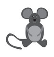 isolated stuffed mouse toy vector image vector image