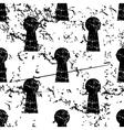 Keyhole pattern grunge monochrome vector image vector image