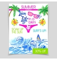 Live life in a bikini flyer vector image