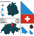 Map of Zurich vector image vector image