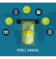 mobile banking design vector image vector image
