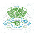 motorbike club emblem for t-shirt vector image vector image