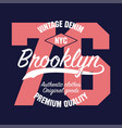 new york brooklyn vintage graphic for number vector image vector image