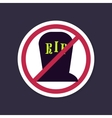 No Ban or Stop signs Halloween grave icon vector image vector image