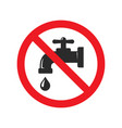 no water tap sign red ban signs images vector image