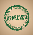 old round stamp approval vector image vector image