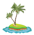 Palm Tree on Island5 vector image