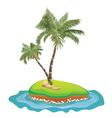 Palm Tree on Island5 vector image vector image